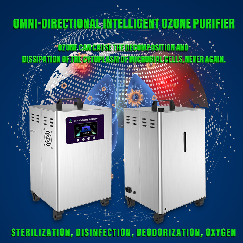 Omni-directional intelligent ozone purifier