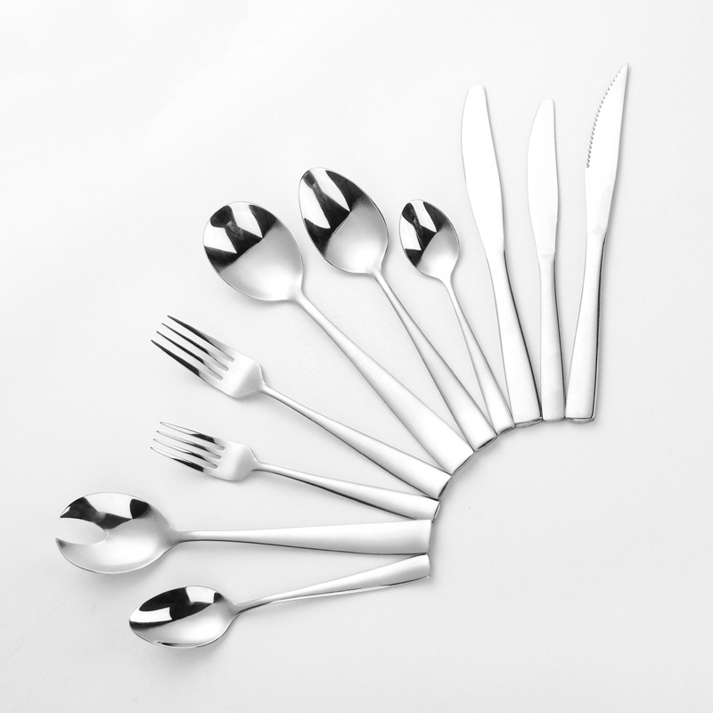 elegant stainless steel flatware silver set 18/0 cutlery storage