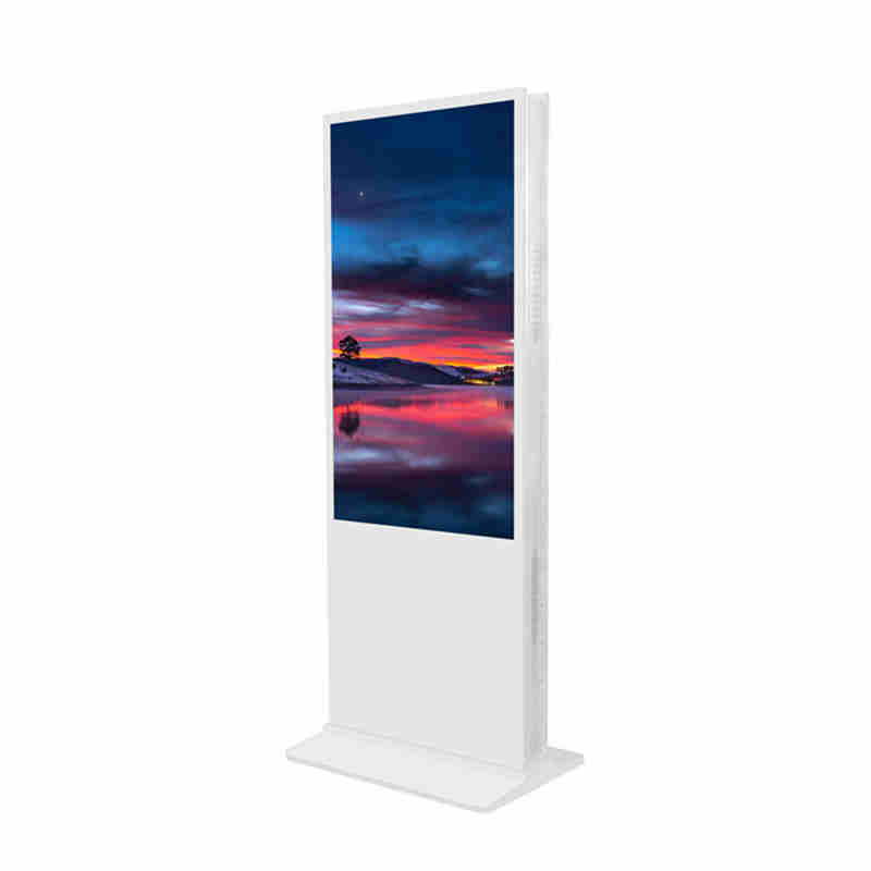 55 inch Floor Upstanding Double Sided Digital Signage Advertising Player Billboard for shopping mall,chain store and bank lobby