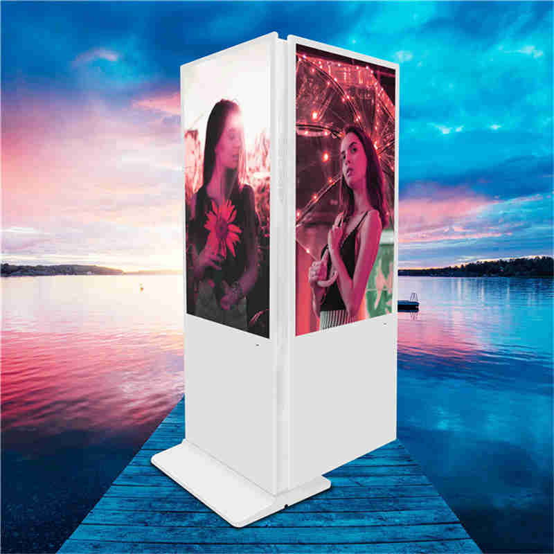 43 inch Floor Upstanding Double Sided Digital Signage kiosk Advertising Player Billboard for shopping mall,chain store and bank lobby
