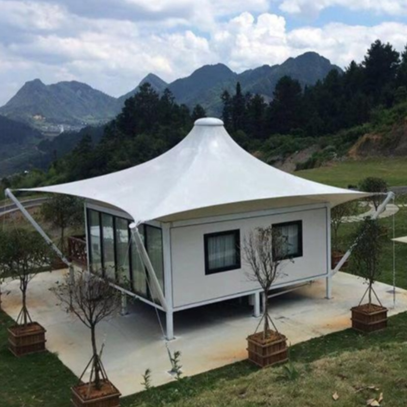 Outdoor Steel Frame Luxury Resort Tents With Hotel Anti - Corrosion Treatment