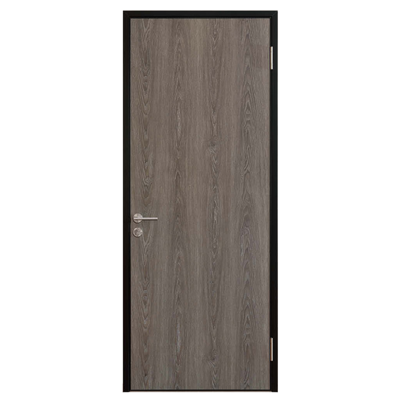 Aluminum frame wooden door foshan factory door for building project
