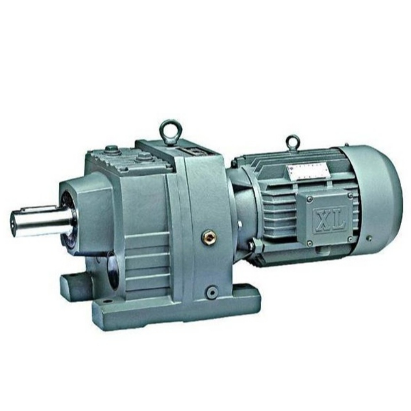 R series helical gear reducer with hard tooth surface