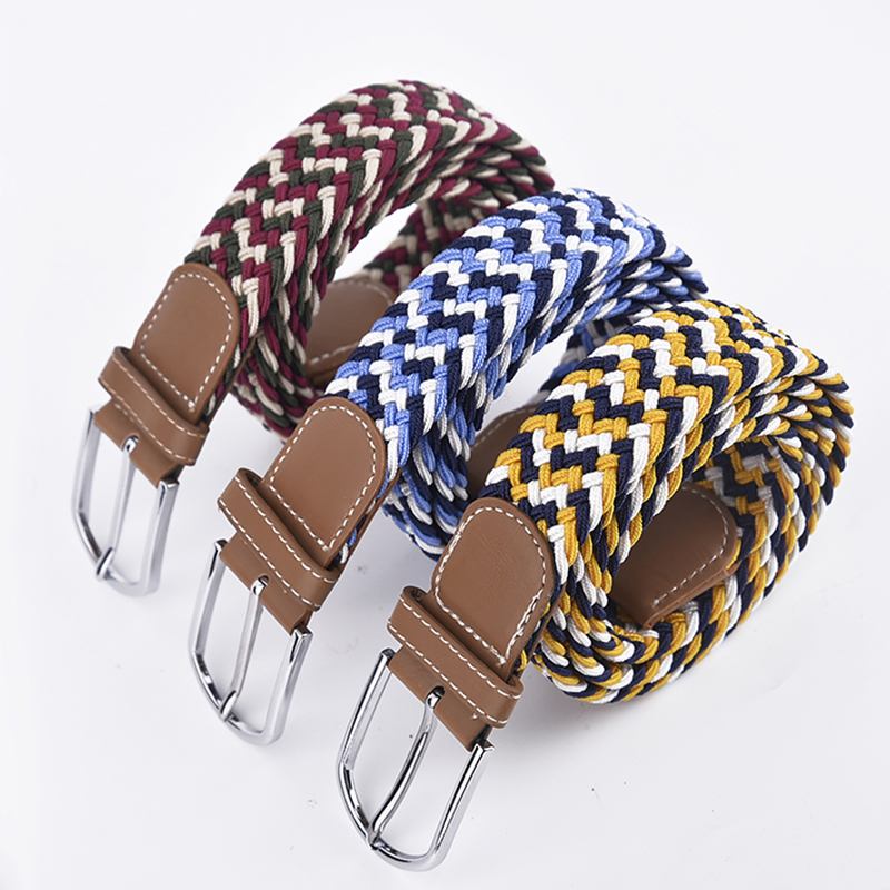Fashion Braided Leather Elastic High Quality Man Belt