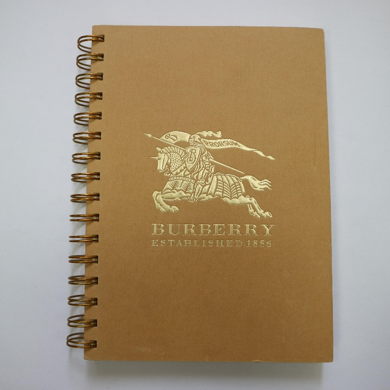 Gold stamping coil binding notebook retro style