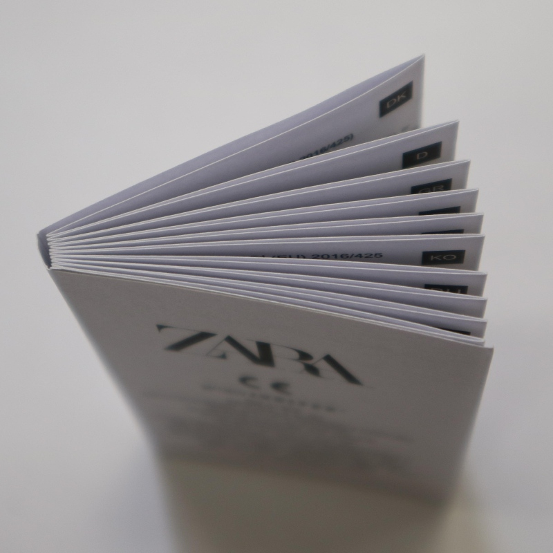 Monochrome printing folding manual customization