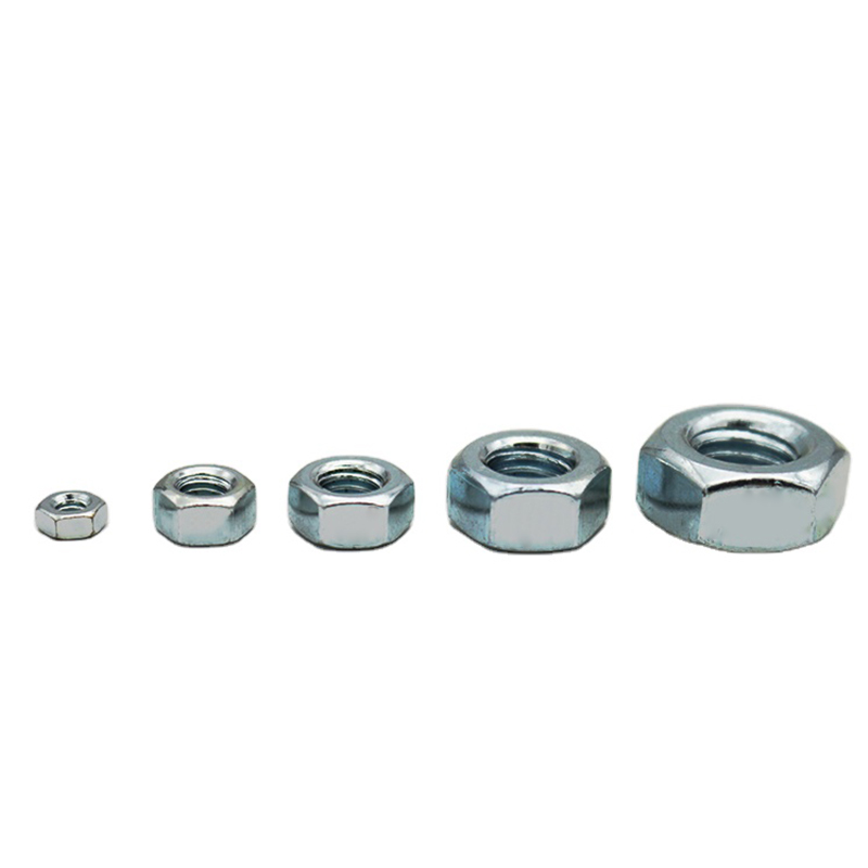 High quality OEM ODM carbon steel Zinc plated hex nut