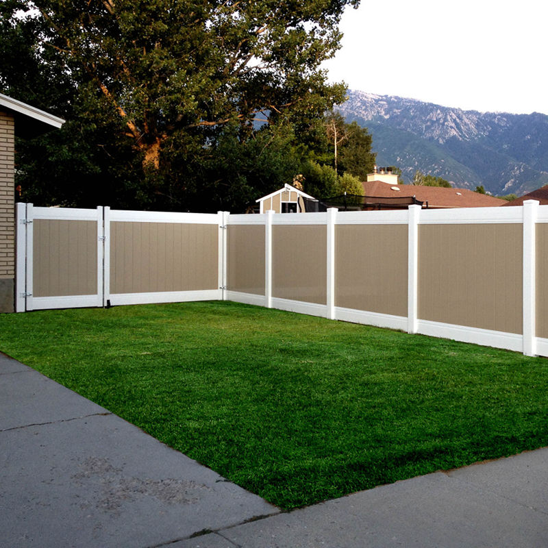 tan color privacy fence