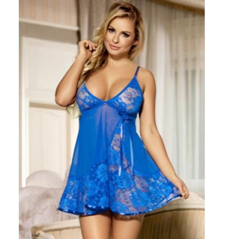 erotica lingerie,mesh lingerie,sexy lingerie woman Babydoll LINGERIE Lace ELECTRIC Blue Black Red