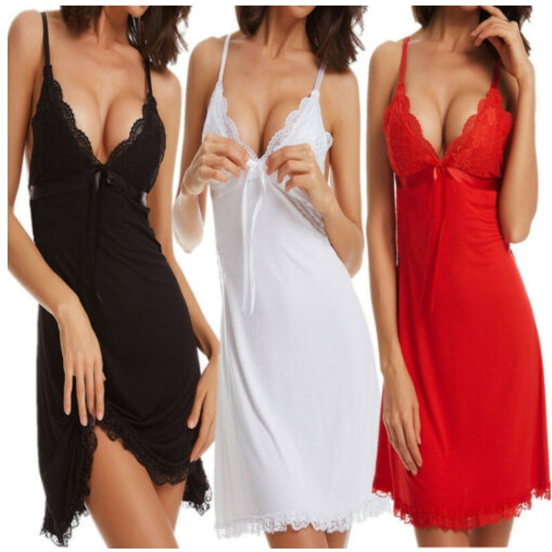 sexy open big breast lingerie,young lingerie xxx,woman lingeries sexy silk Sexy Women Lace Chemise Lingerie Ladies Babydoll Nightdress Low V Nightwear