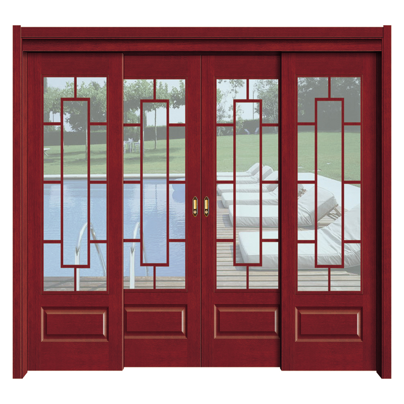 Popular Wooden Door With Glass Timber Glass Door