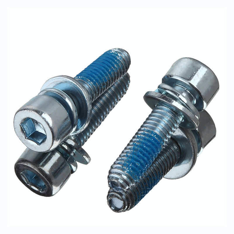 Chinese Supplier DIN912 Blue Zinc Hex Socket Cup Head Screws with Nylok