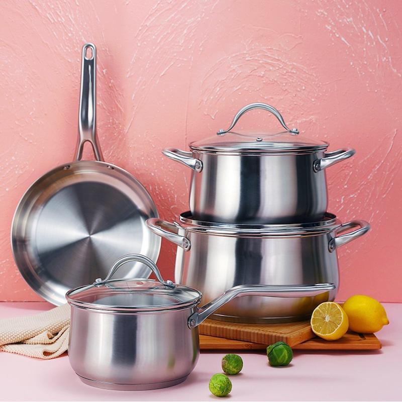 stainless steel casserole set, 3pcs set, 4pcs set, 5 pcs set