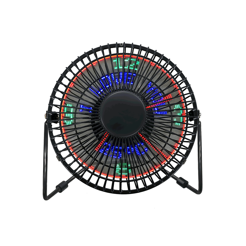 Desk USB LED Clock Fan with Temperature Display(6 inch) 6A