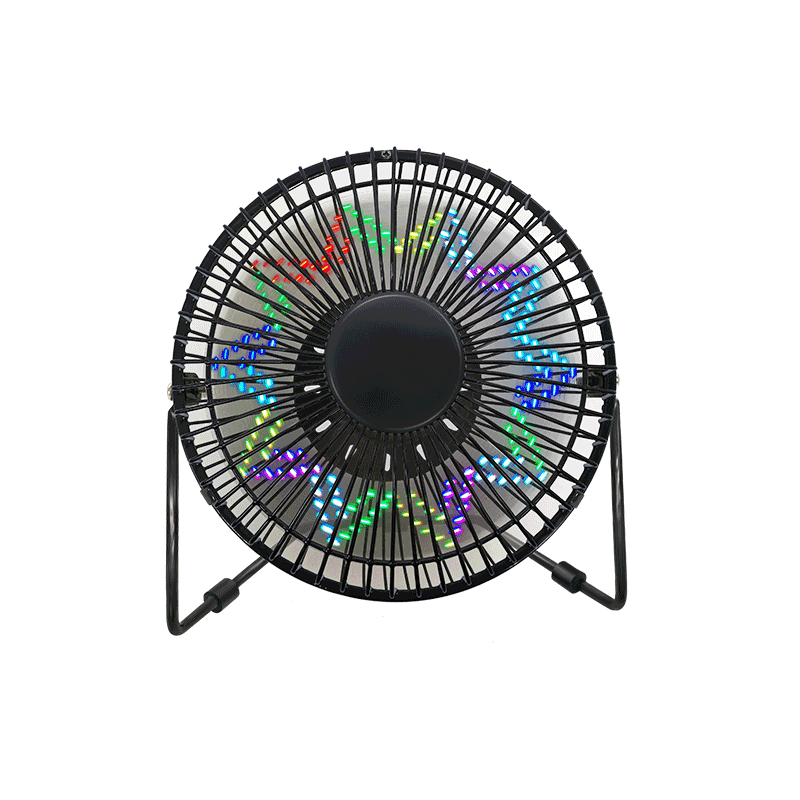 LED Clock Display Fan with Tempertature Time Date 6 Inch (6B)