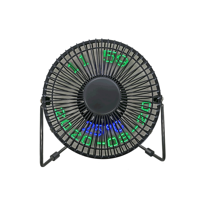 Desk USB LED Message Fan 6 Inch Single Color and Colorful Display (6C)