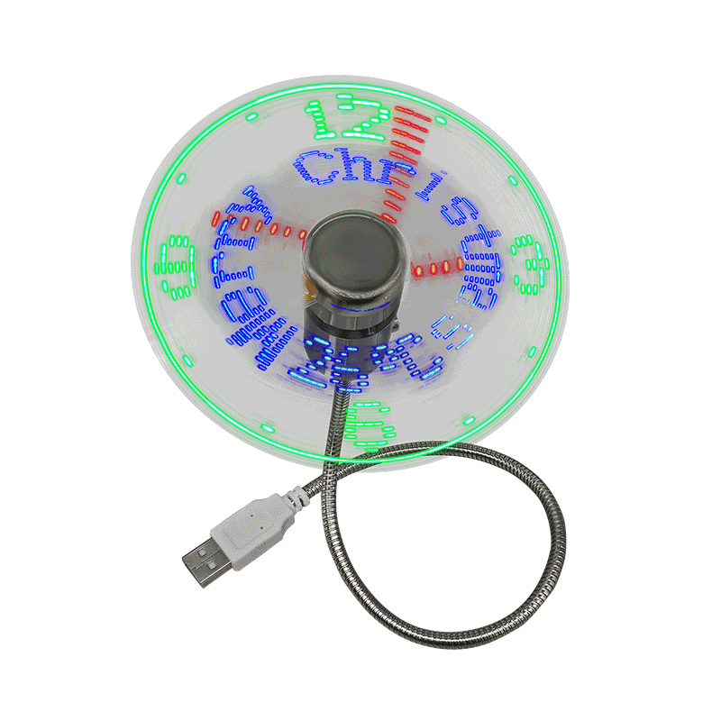 Mini USB Fan with Led Clock Gift Fan (DS02)