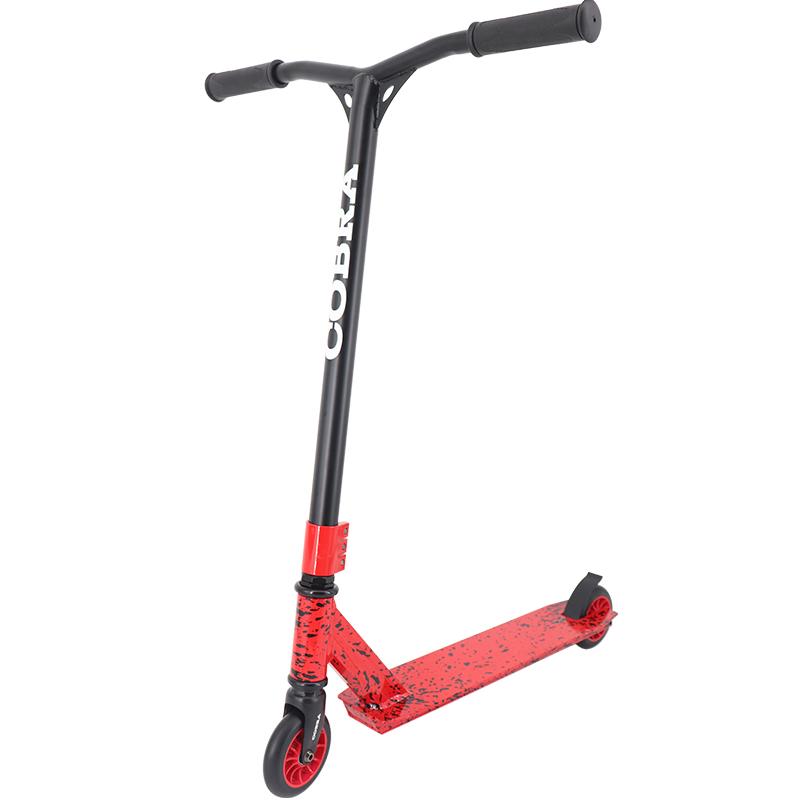 cheap stunt scooter  (splatter  red/black)