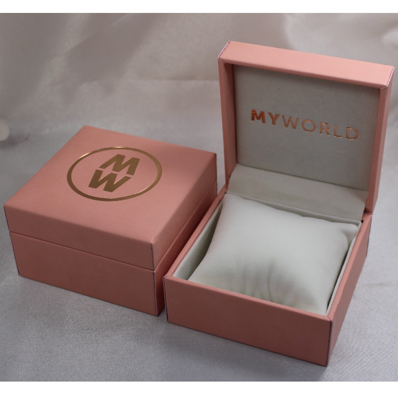 Item V-05 rectangle Plastic Leatherette Paper box for watch. mm. 100*100*60, weights about 194g