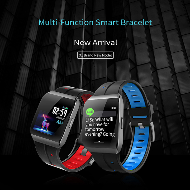 Smart watch   Multi-fuction smart Bracelet X1  ( JYDA127)  Smart sport watch  Detection of sleep  Level  IP68 waterproof