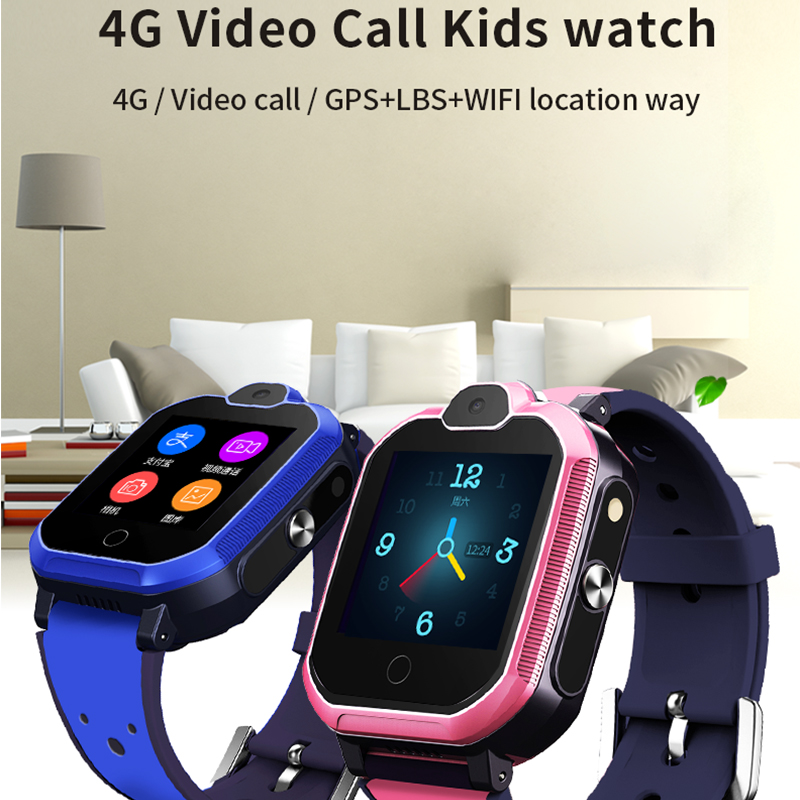 Smart watch  Silicon  bracelet T6 ( JYDA149 ) Heart rate detection l 4G video call  kids watch
