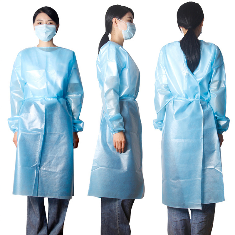 PP+PE Disposable Isolation Gown