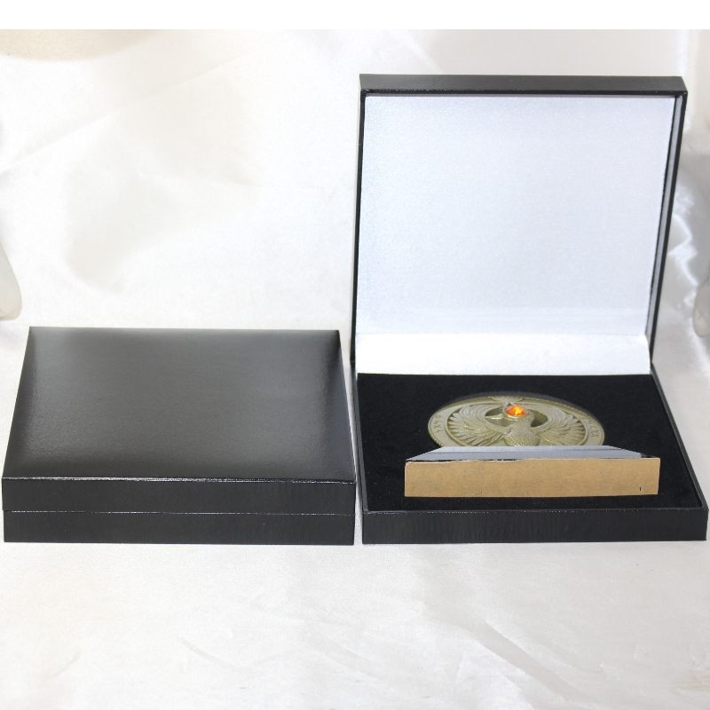 Item V-23 square PU leather box for 120*120mm mutiple coins, medals and badges, etc. mm.160*160*38, weights about 280g