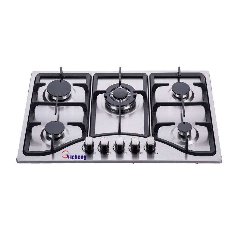 OEM brand factory wholes sale bulit in type 5 burner gas hobs