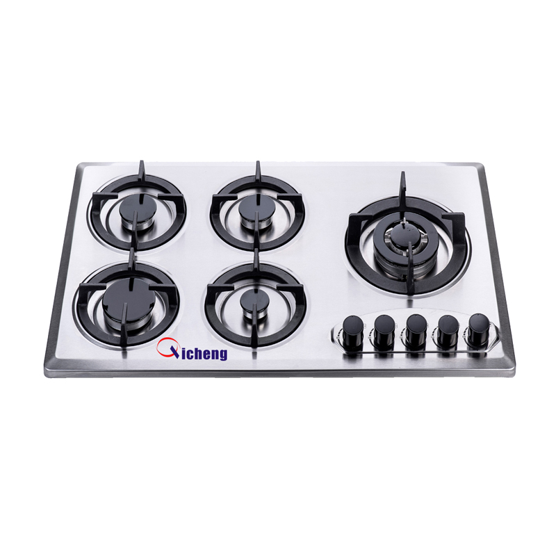 Kitchen appliance 5 burner bulit in hob gas stove