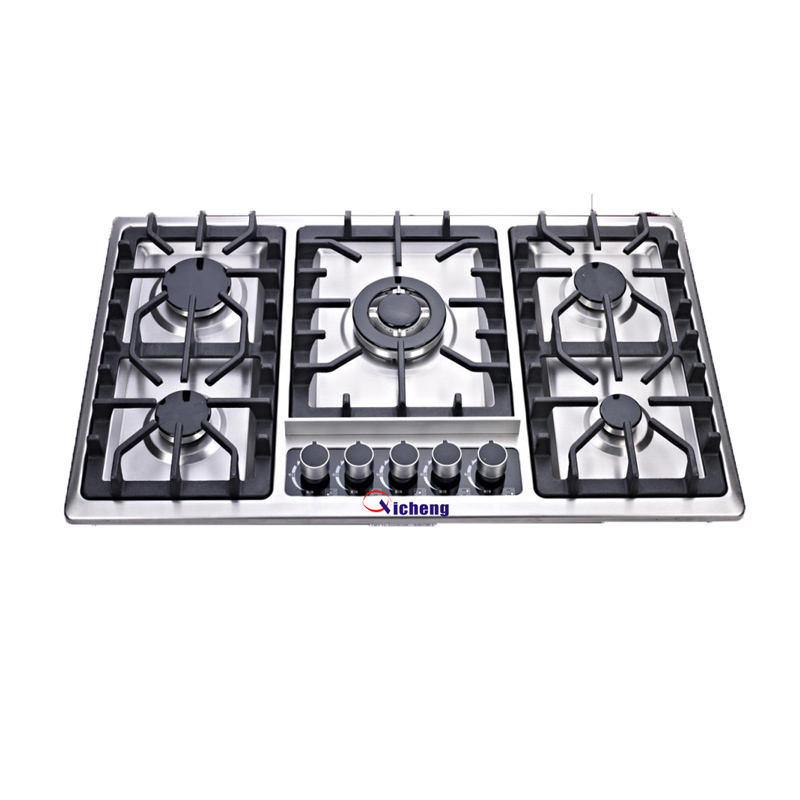 OEM brand 210 stainless steel 5 burner bulit in hob gas stove