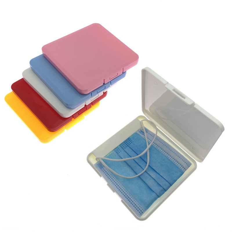 Small size Coloful Plastic face cover storage case portable plastic masked cover storage holder mask keeper travel box