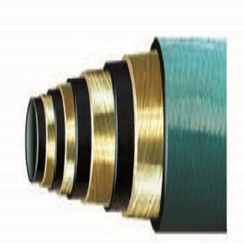 Hight pressure hose with high polymer material cover