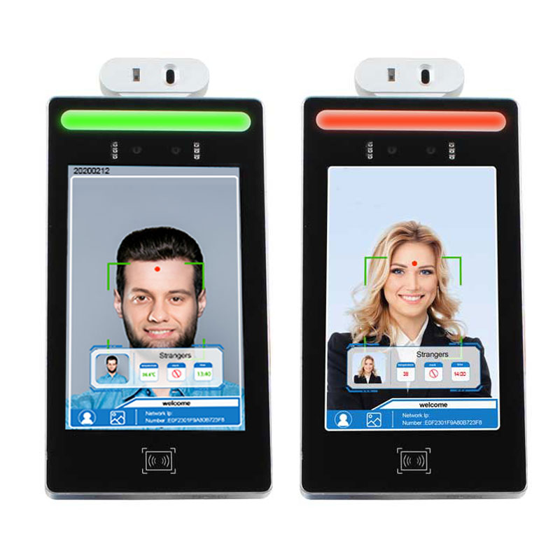 8-inch wireless face recognition temperature measurement lcd kiosk for security door access attendance