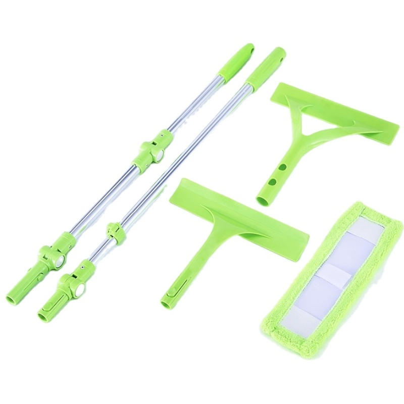 JASON NEW Extended telescopic aluminum alloy window wiper with microfiber cloth