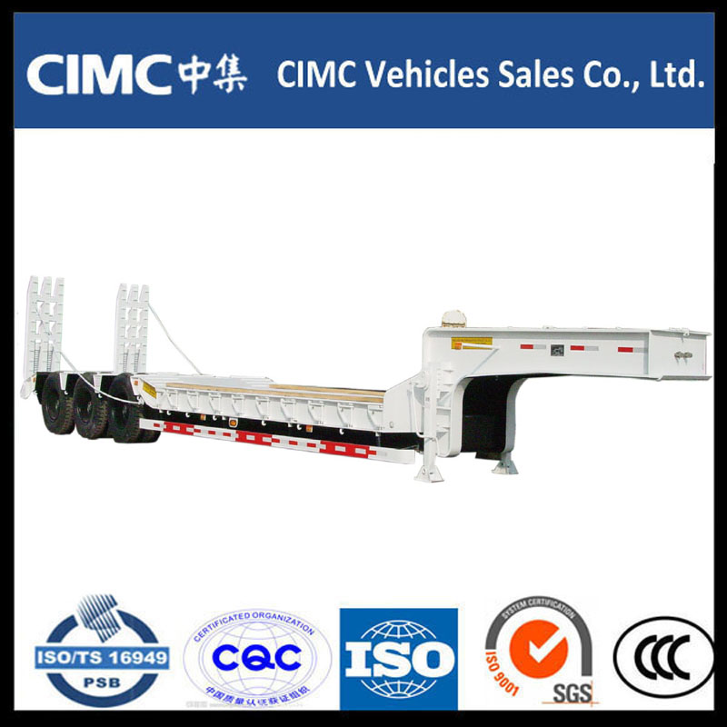 CIMC Heavy Machine Carrier Lowbed Semi Trailer