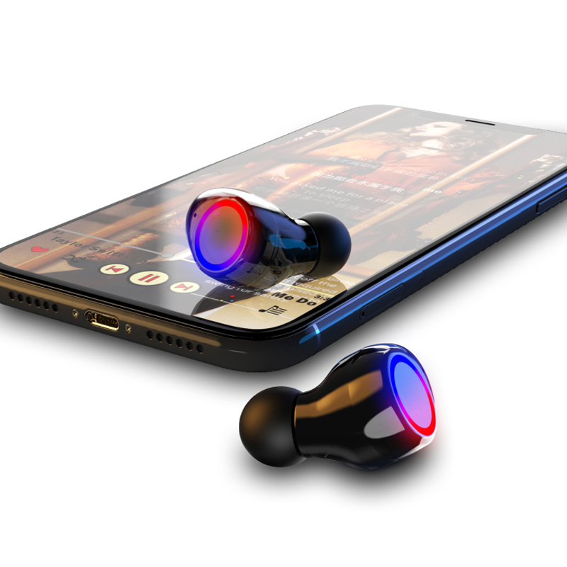 M12 Tws Bluetooth Headphone Headset Earphone with Power Bank Function Ipx-5 Waterproof Earbuds