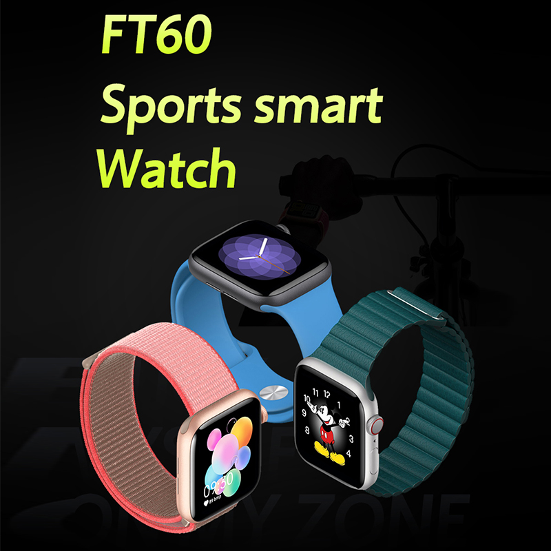Smart watchFT60,Bluetooth; Heart Rate & Blood Pressure monitoring; Sleep Monitoring; Sports Data Collection: Detects the state of your daily movements