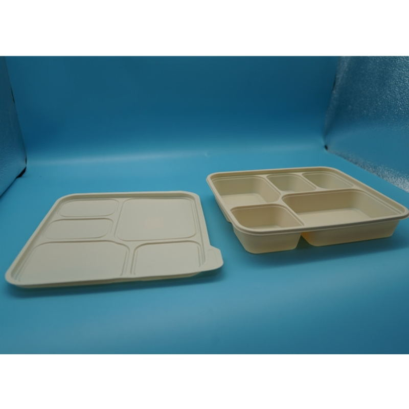 airtight microwavable compartment takeaway biodegradable food packaging food storage disposable food containers