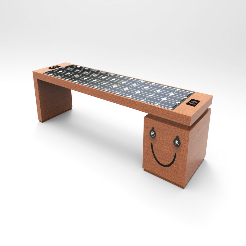 Bluetooth Free Wifi Wireless Charging Bench With Solar Panel
