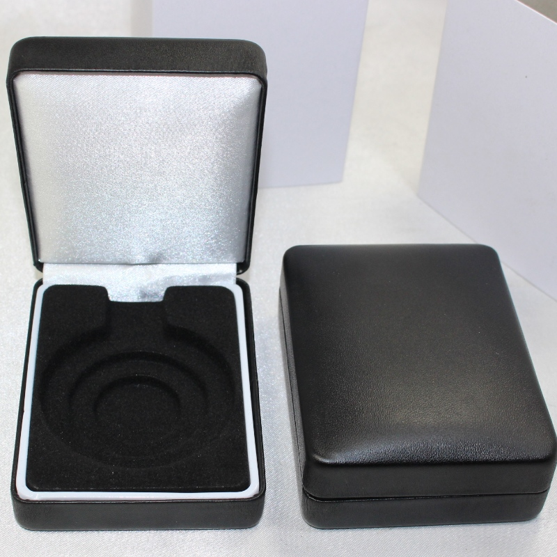 Item T-03 medal box covered by flannelette or PU Leather for 35-50mm coin, badge&small medal, etc. mm.70* 91*35mm, weights about 92g