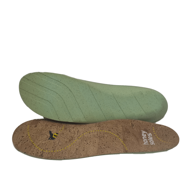 Shock-Absorbing Cushioning for Plantar Fasciitis Inserts cork printed  shoe insole
