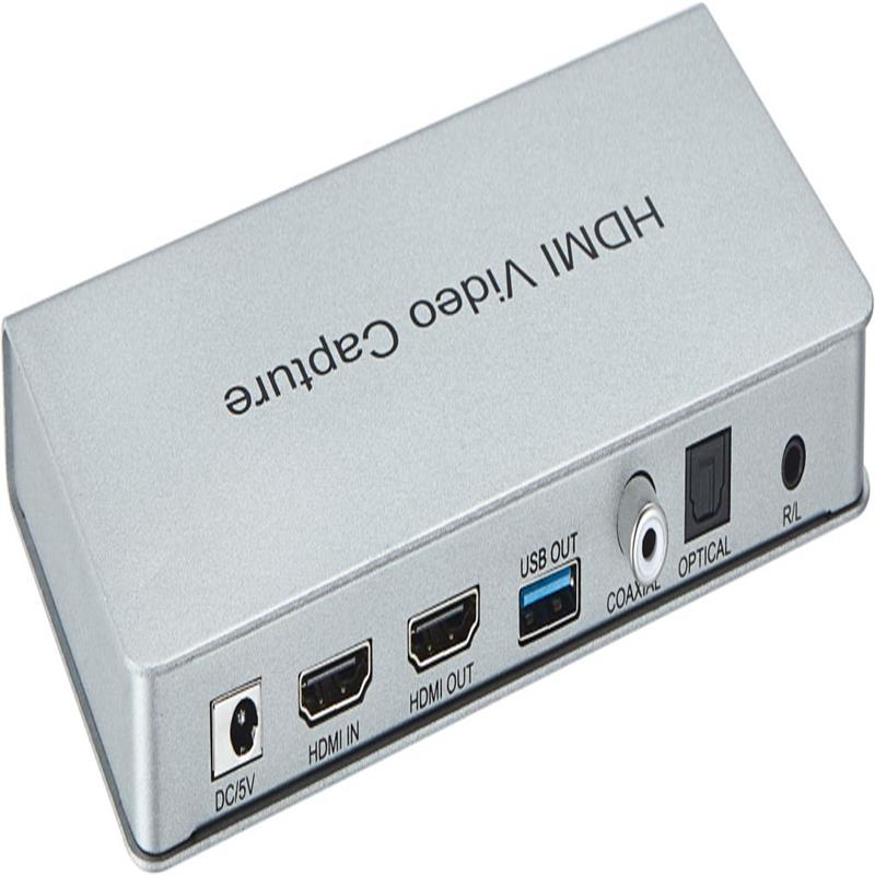 USB 3.0 HDMI Video Capture with HDMI Loopout,Coaxial,Optical Audio