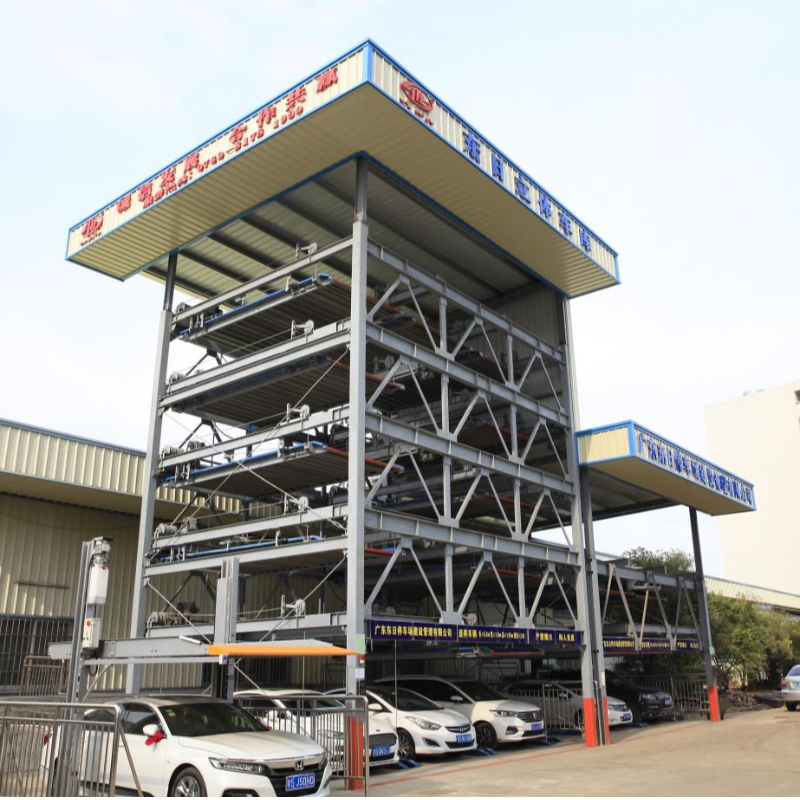 2-6 floor automatic lifting sliding puzzle car parking system high quality Factory Direct sale
