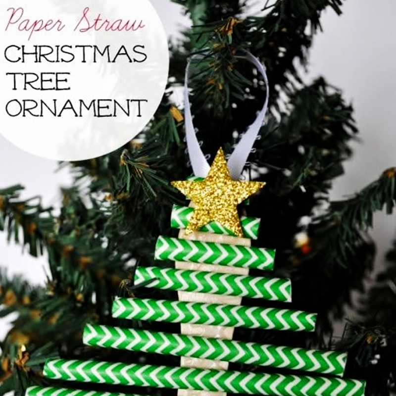 How to make a handmade paper Straw Christmas tree story