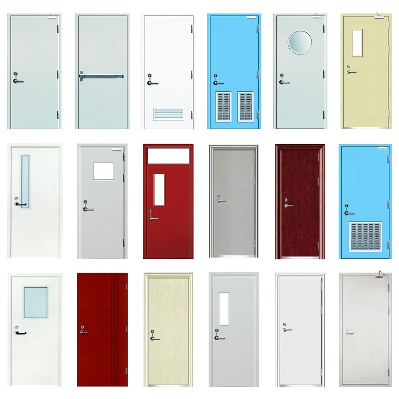 High Quality Armored Door Steel Fire Rated Doors Supplier Customized Australia Fireproof And Soundproof Rated Myanmar Steel Fire Door New Settings Swing Rate 30 60 90Mins Security Proof Certificated Fire Rated Steel With Pet Door