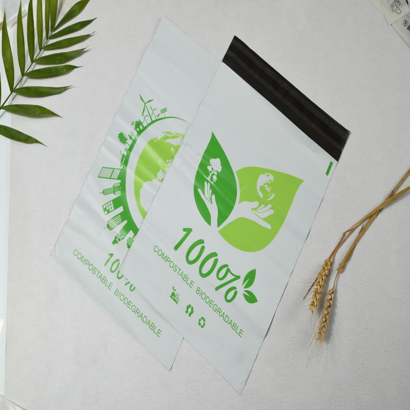 High quality custom printed Compostable Biodegradable corn starch mailing self adhesive bags