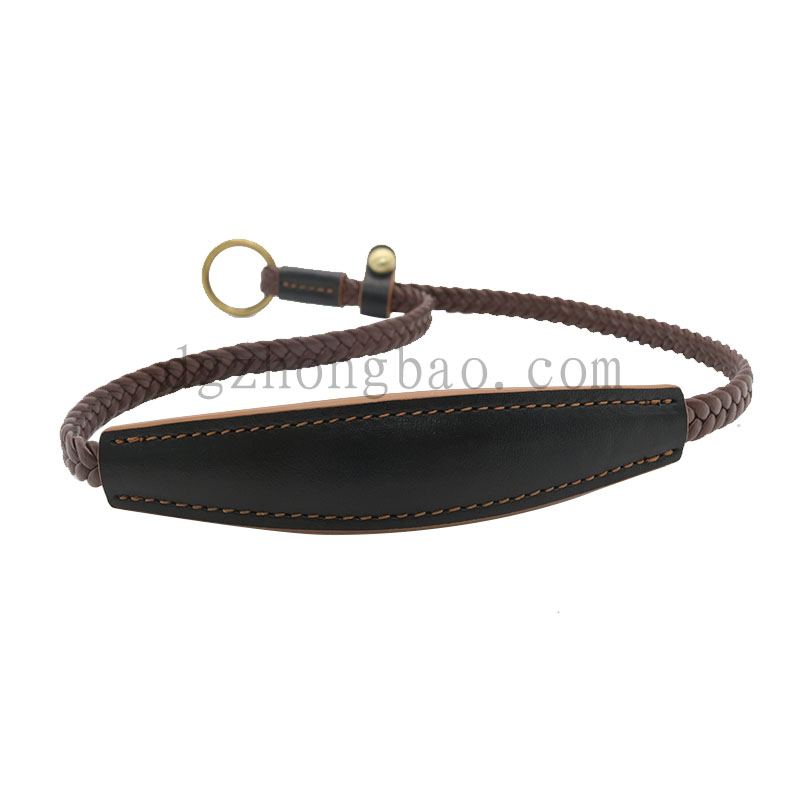 Braided Leather Pet Leash