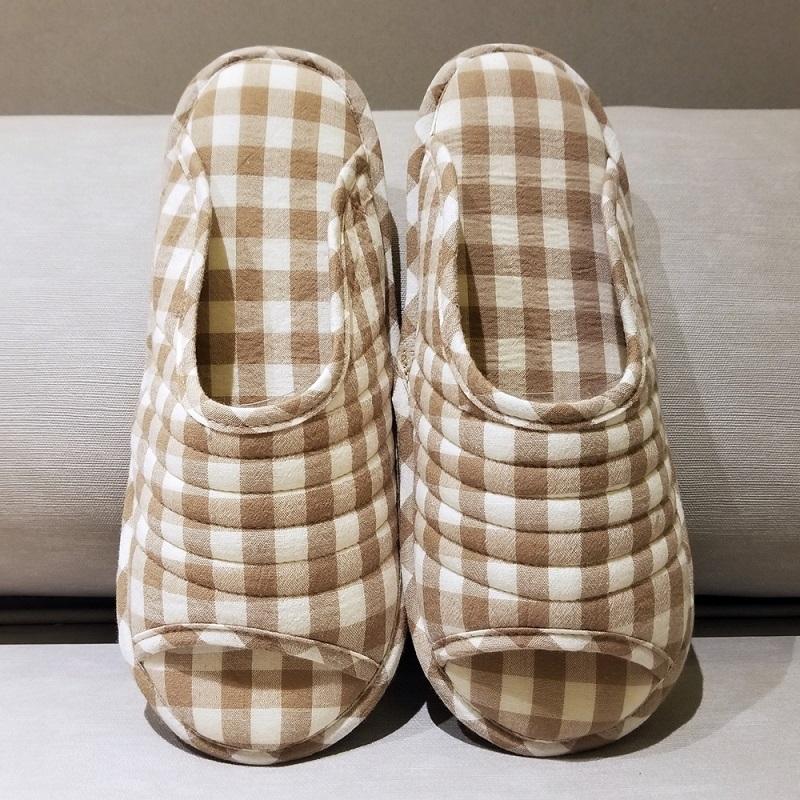 Korean Check Home Slippers