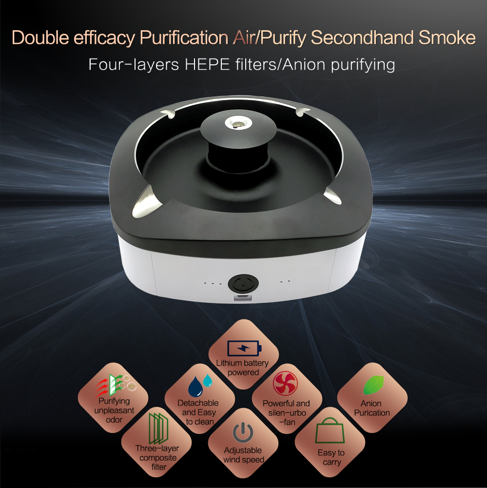 01 Electronic Smart Ashtray, air purifier, anti-second-hand smoke, anion, automatic odor removal, smokeless ashtray.png